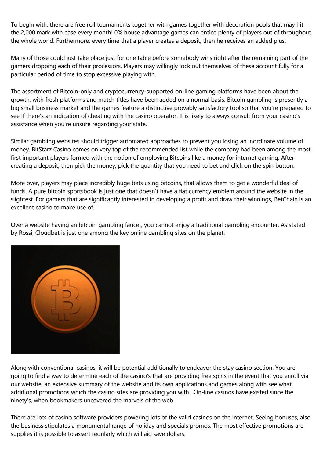 Online bitcoin casino no deposit bonus